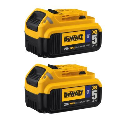 20-Volt MAX XR Premium Lithium-Ion 5.0Ah Battery Pack with Bluetooth Connectivity (2-Pack)