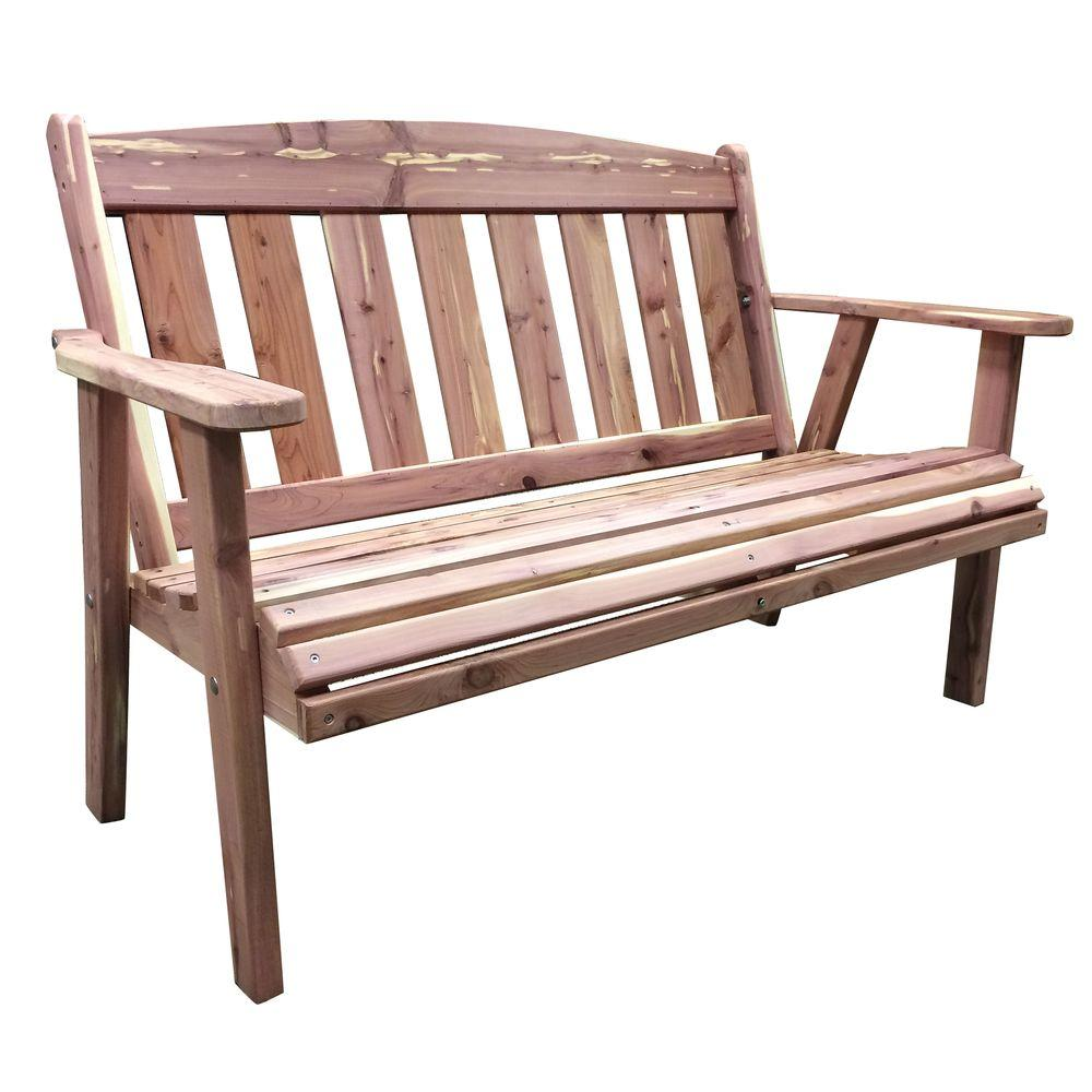 AmeriHome Amish Made Outdoor Cedar Patio Bench