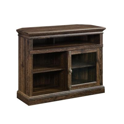Barrister Lane Iron Oak Corner TV Stand