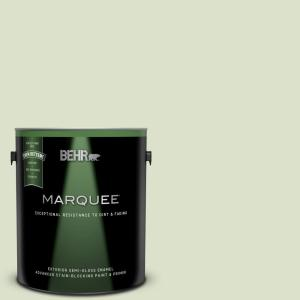 Behr Marquee 1 Gal 420e 2 Palm Breeze Semi Gloss Enamel Exterior Paint And Primer In One 545001 The Home Depot