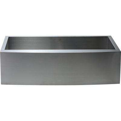 Hardy Undermount Apron Front Stainless Steel 30 in. Single Bowl Kitchen Sink