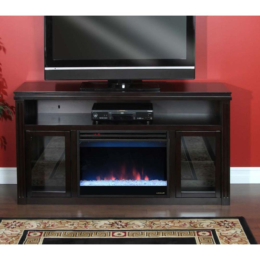 Muskoka Rosemont 58 in. Media Console Electric Fireplace in Espresso