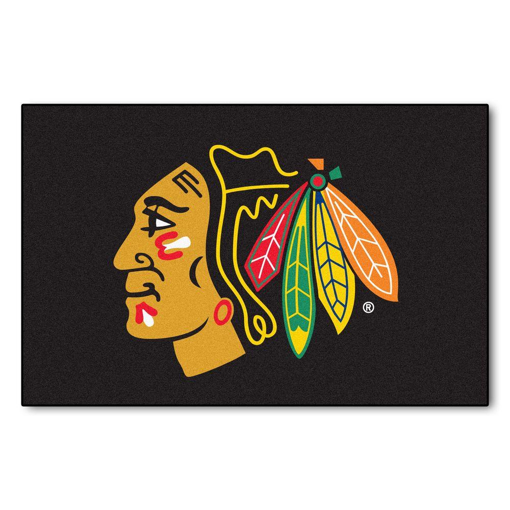 Chicago Blackhawks 19 in. x 30 in. Accent Rug, Multi