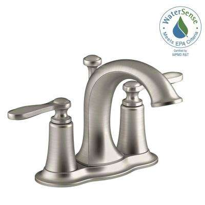 Linwood 4 in. Centerset 2-Handle Water-Saving Bathroom Faucet in Brushed Nickel