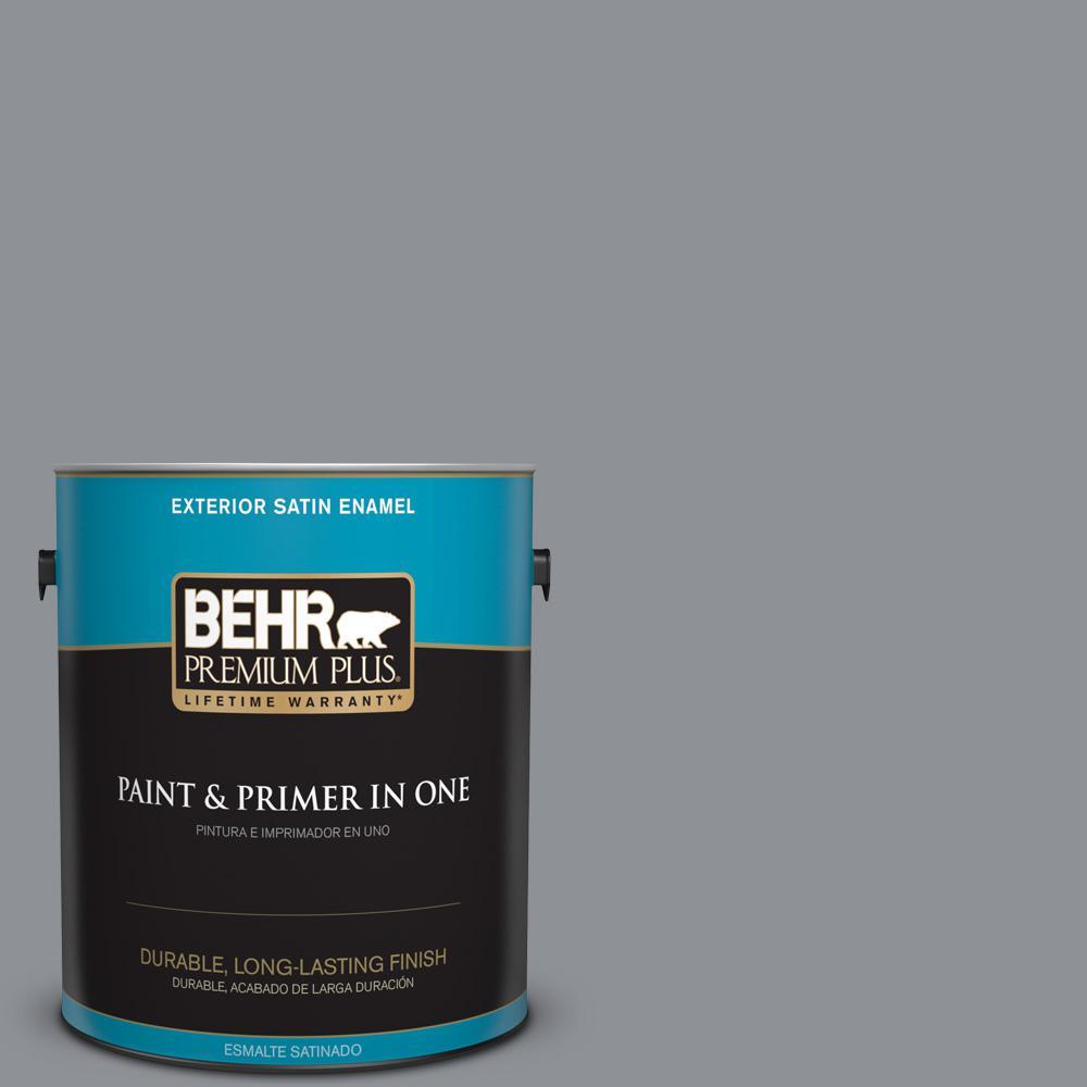 1 gal. #PPU18-04 Dark Pewter Satin Enamel Exterior Paint