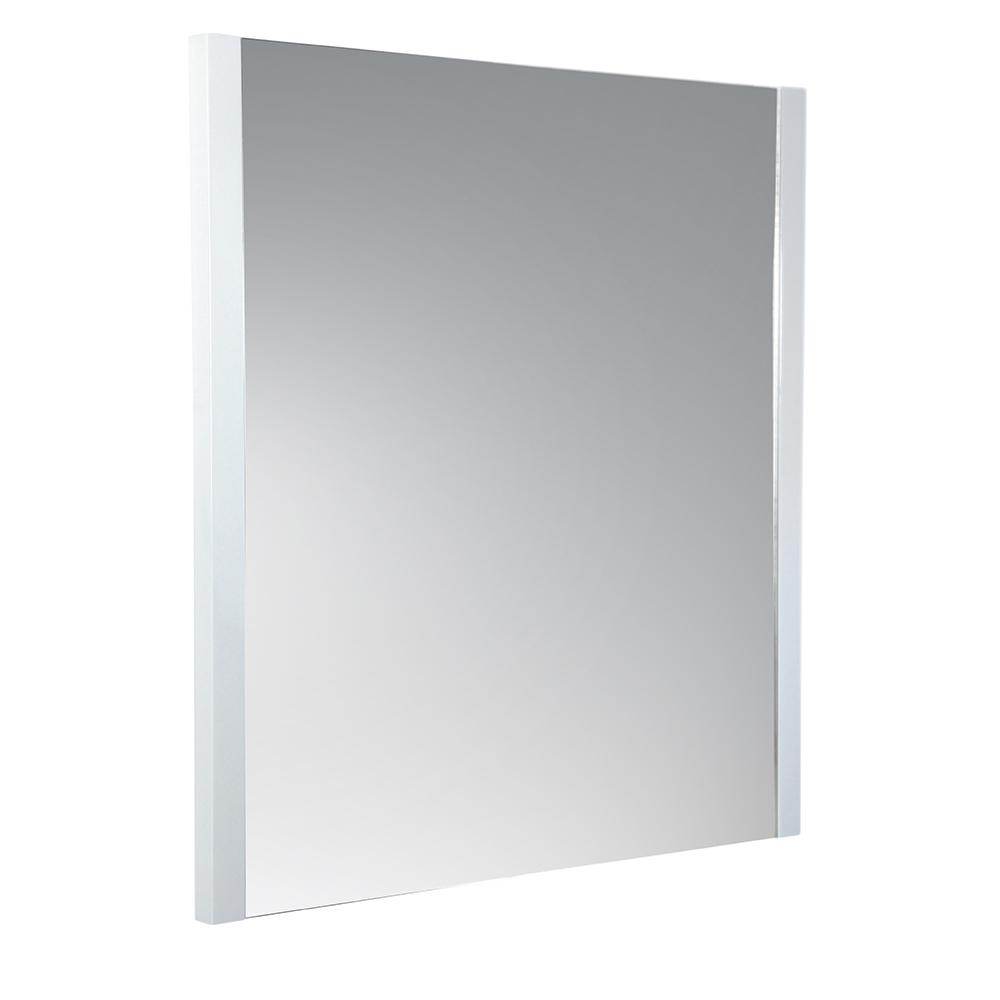 Fresca Torino 25.50 in. W x 31.50 in. H Side Framed Wall Mirror in White
