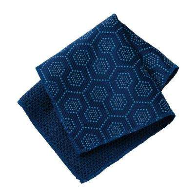 11 in. x 11 in. x .1 in. Navy Polyester and Nylon Scrubbing Dish Cloth