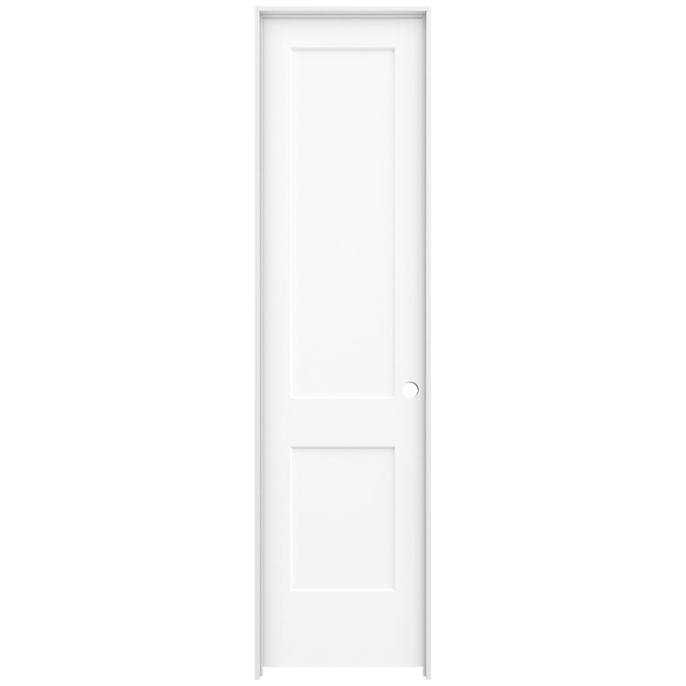 Jeld Wen 24 In X 96 In Monroe White Painted Left Hand Smooth Solid Core Molded Composite Mdf