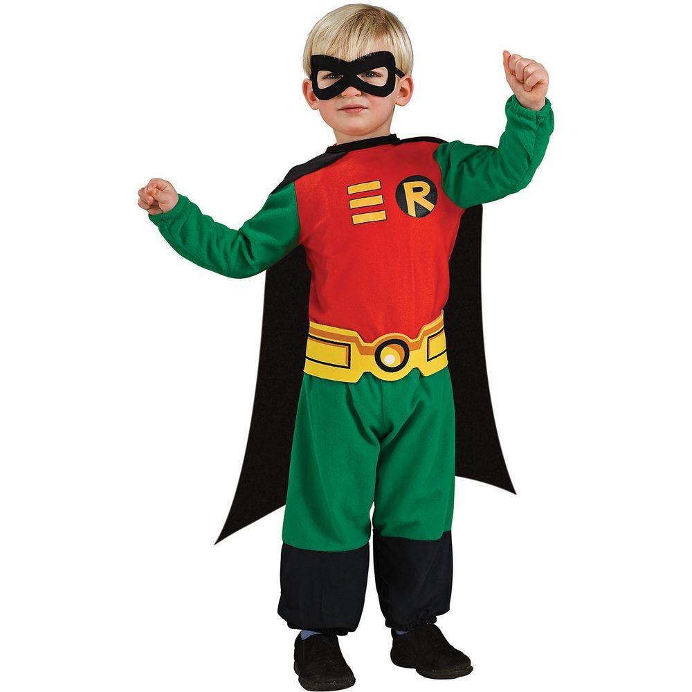 Rubies DC Comics Teen Titans Deluxe Muscle Chest Robin Costume Toddler