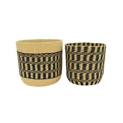Natural Fiber Paper Rope Basket (Set of 2)