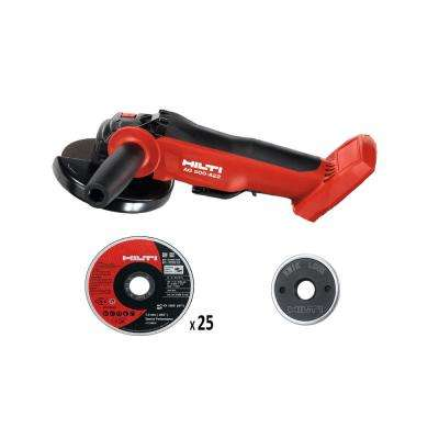 22-Volt Cordless, Brushless 5 in. Angle Grinder AG 500 A22 (Tool-Only) with 5 in. 25-Abrasive Cut Off Blades