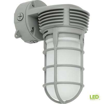PCVTW Collection 11 -Watt  11 in. Outdoor Gray Integrated LED Wall Light