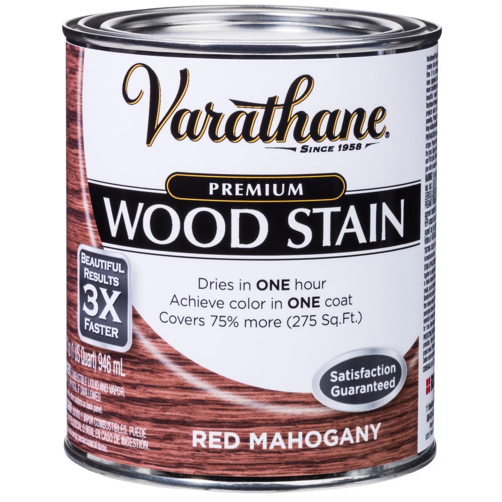 1 qt. Red Mahogany Premium Fast Dry Interior Wood Stain (2-Pack)