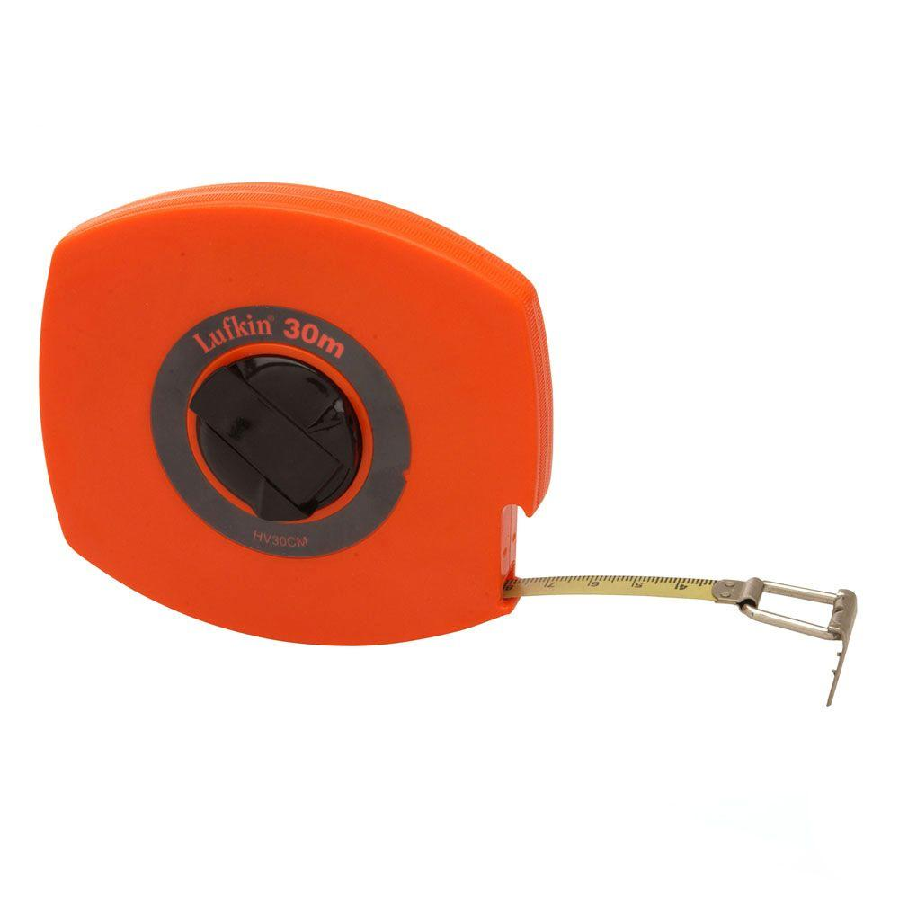 Lufkin 100 ft. J492 Hi-Viz Universal Lightweight Long Steel Tape Measure