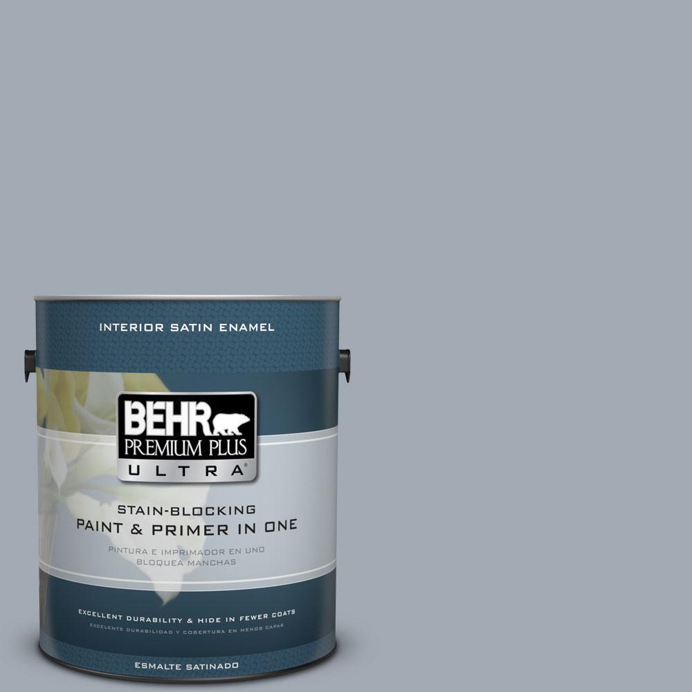 BEHR Premium Plus Ultra 1-gal. #T13-6 Twilight Satin Enamel Interior Paint