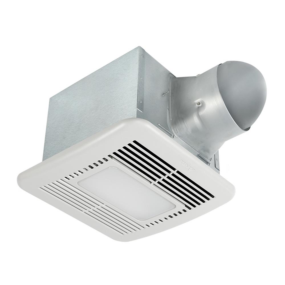 Signature 80/110 CFM Adjustable Speed Ceiling Exhaust Bath Fan with LED