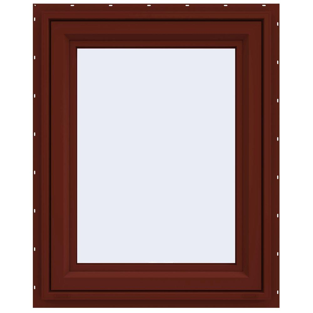 JELD-WEN 23.5 in. x 29.5 in. V-4500 Series Awning Vinyl Window - Red
