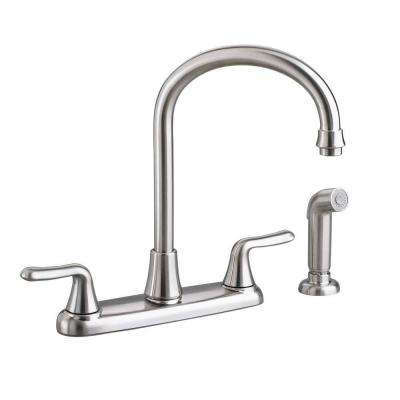 Colony Soft 2-Handle Standard Kitchen Faucet in Stainless Steel