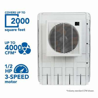 4000 CFM Slim Profile Window Evaporative Cooler for 2000 sq. ft.