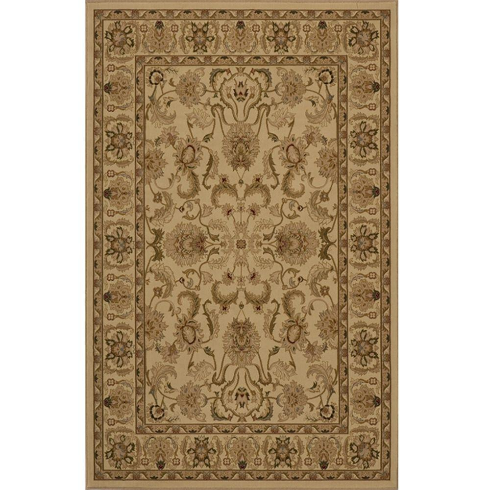 Lovely Ivory 3 ft. 3 in. x 5 ft. Area Rug