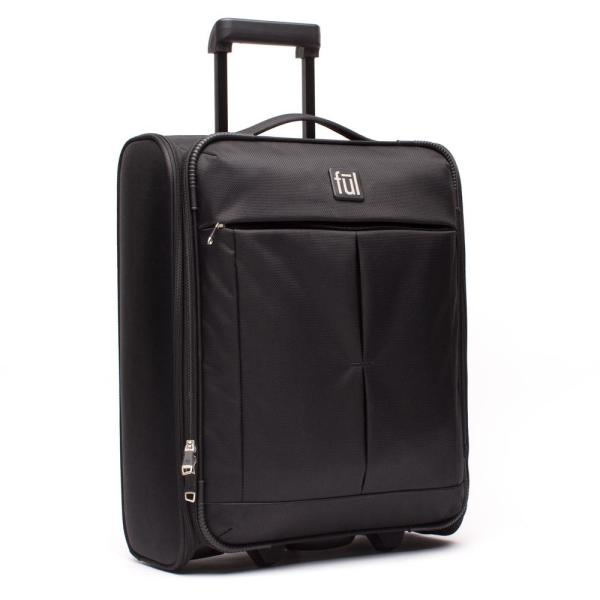 057e01d7d0 Ful Fold Up 21 in. Black Soft Sided Rolling Luggage Suitcase Folds Flat for  Storage