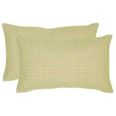 Box Stitch Texture & Weaves Pillow (2-Pack)