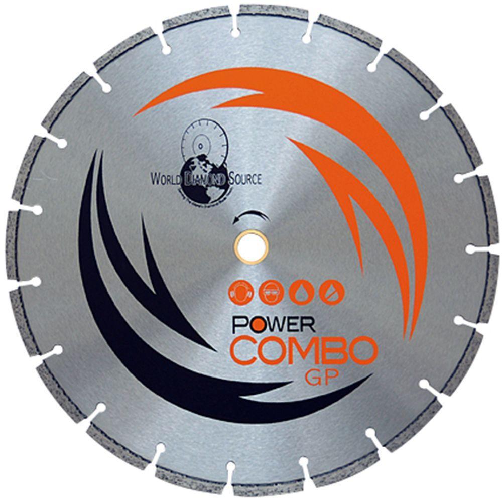 World Diamond Source 4 in. Power Combo Dry Segmented Diamond Blade