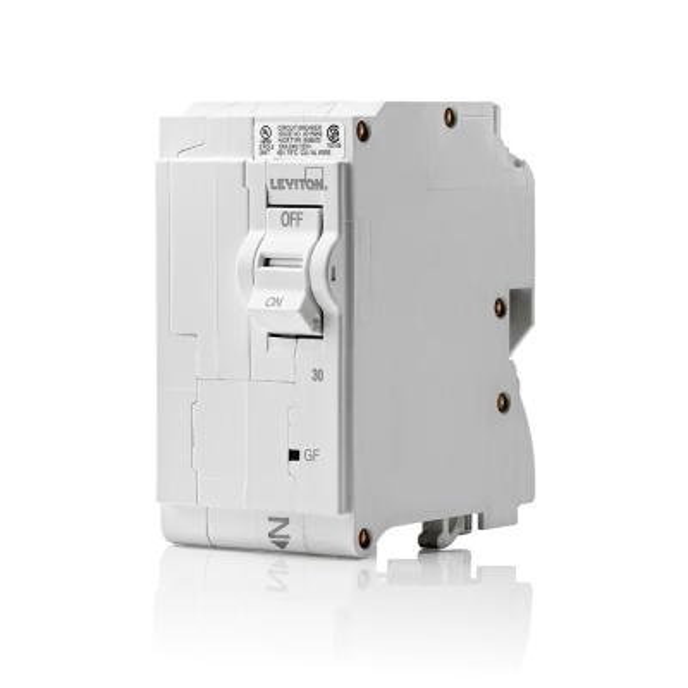 Branch Circuit Breaker, GFCI 2-Pole 30 Amp, 120-Volt/240-Volt, Hydraulic Magnetic