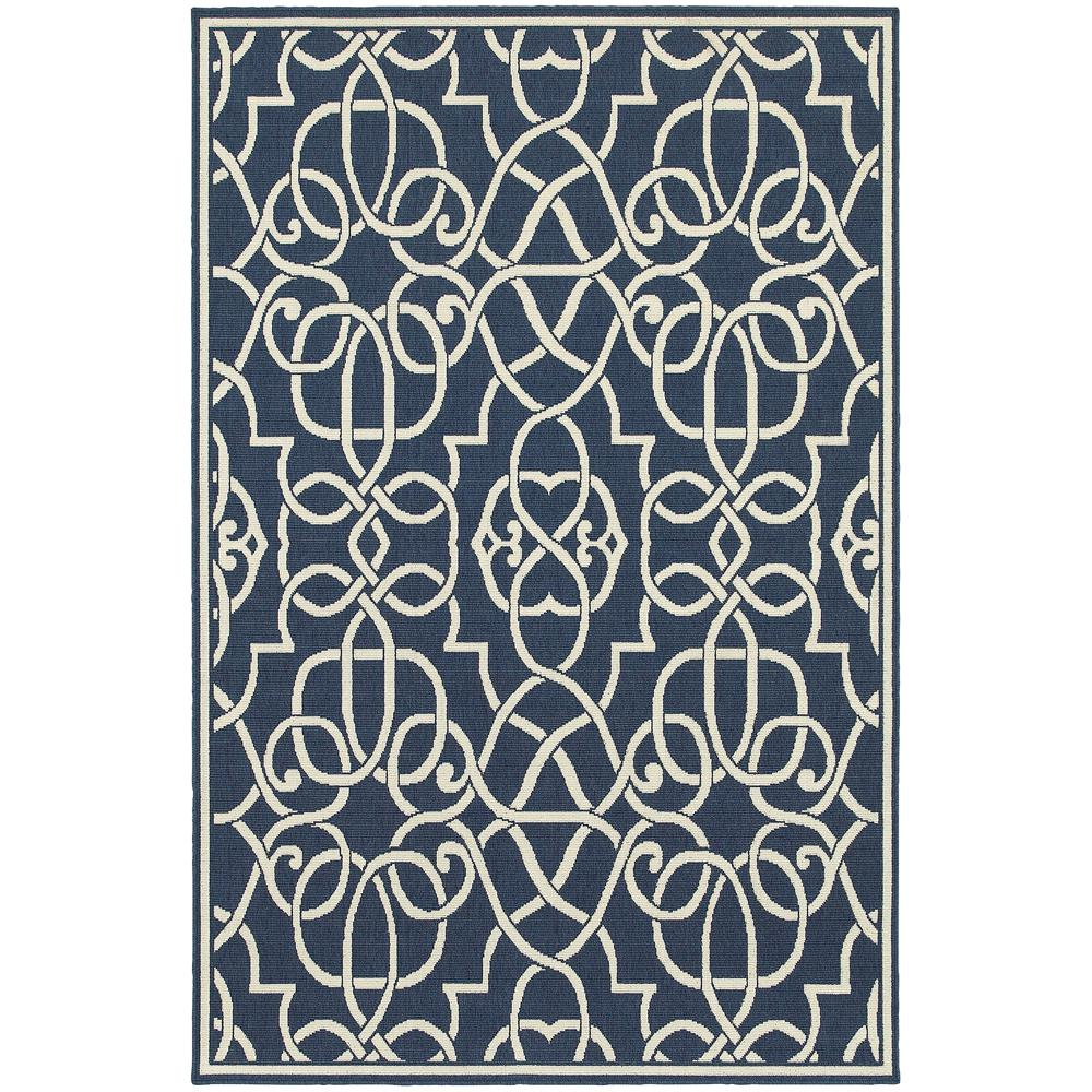 Home Decorators Collection Ballad Navy 4 Ft. X 6 Ft. Indoor/Outdoor Area