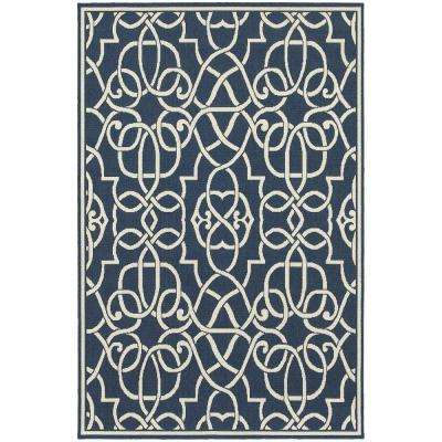 Ballad Navy 9 ft. x 13 ft. Indoor/Outdoor Area Rug