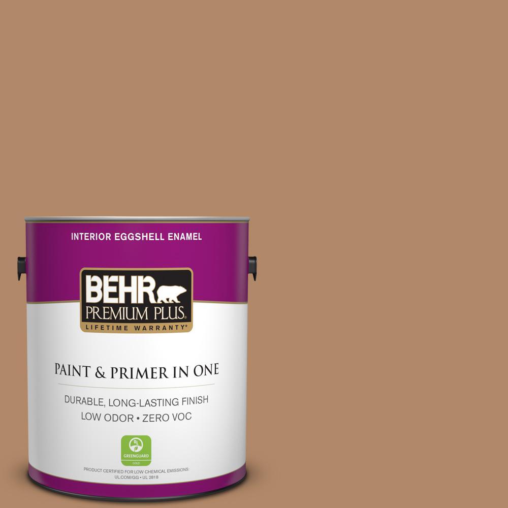1 gal. #MQ2-2 Syrup Eggshell Enamel Zero VOC Interior Paint and