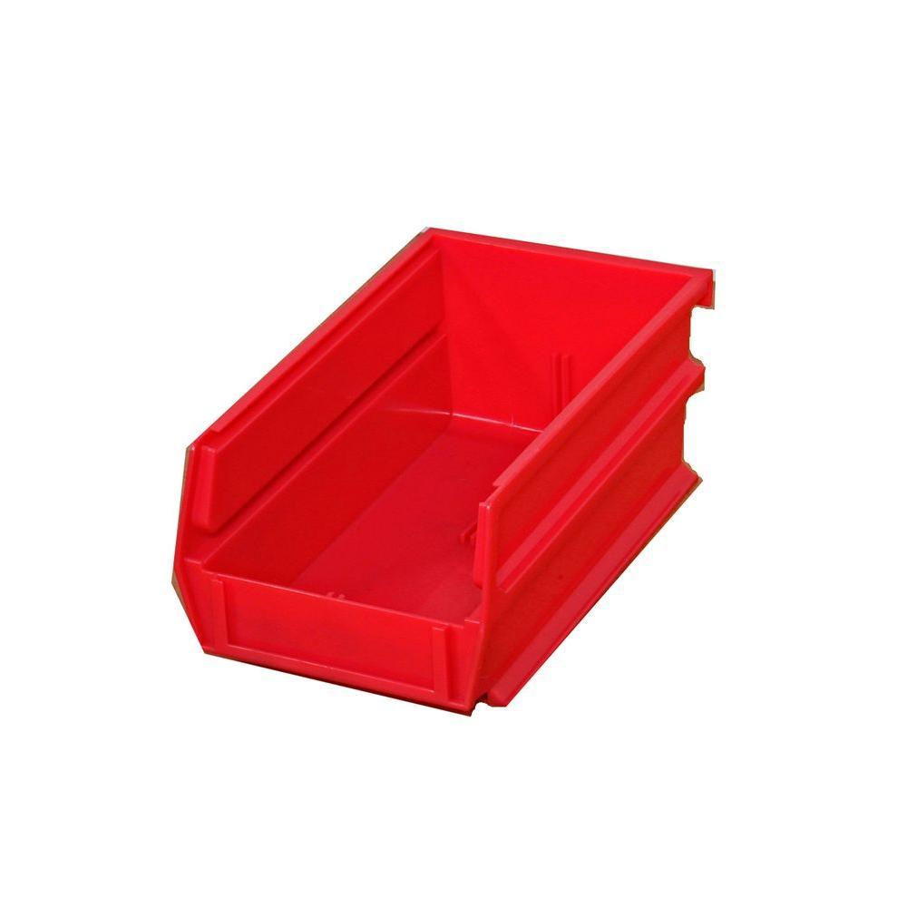 LocBin 0.301-Gal. Stacking Hanging Interlocking Polypropylene Storage Bin in Red (24-Pack)