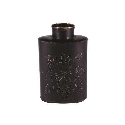 Canterbury 4.5 in. H Decorative Vase in Oxydized Black