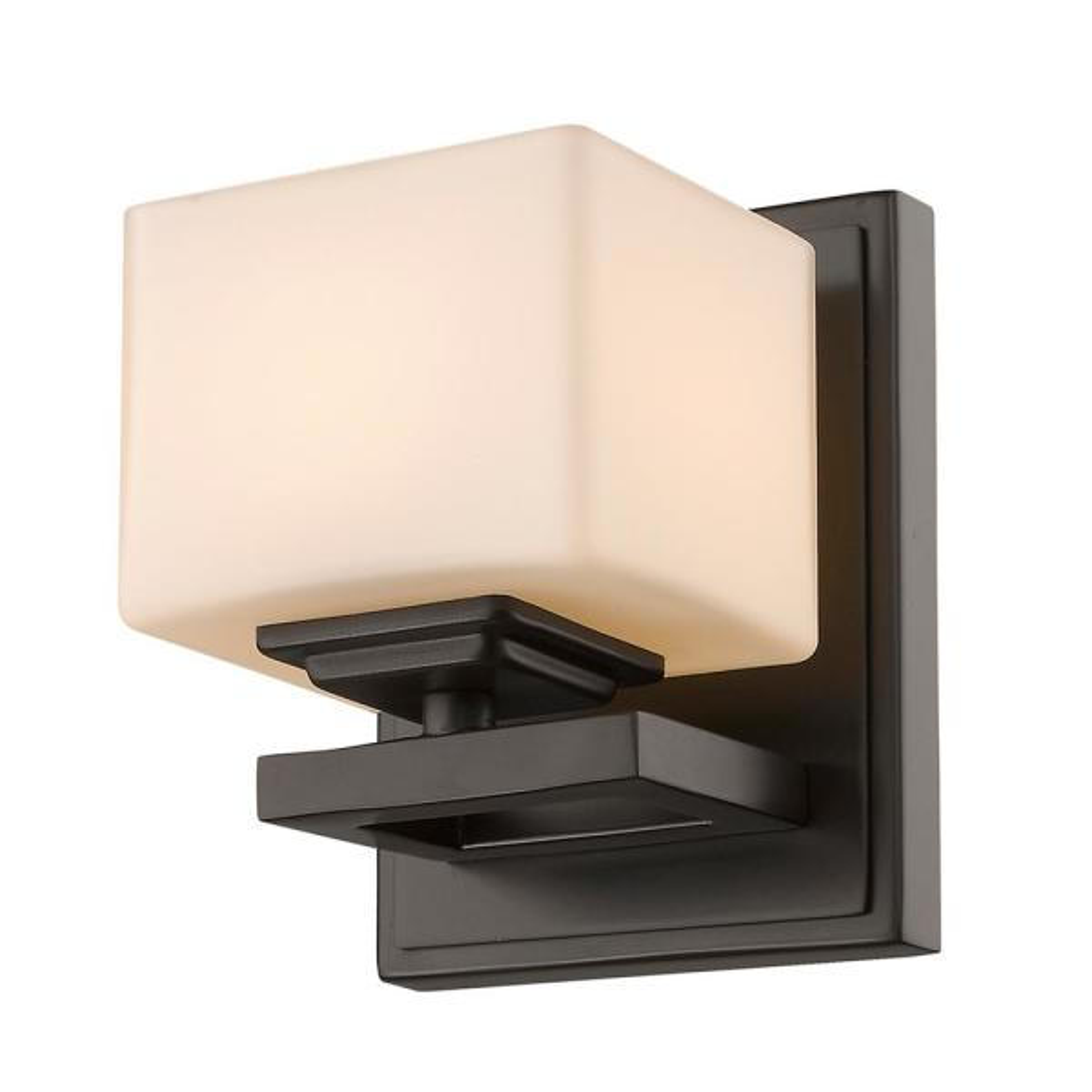 1-Light Bronze LED Wall Sconce
