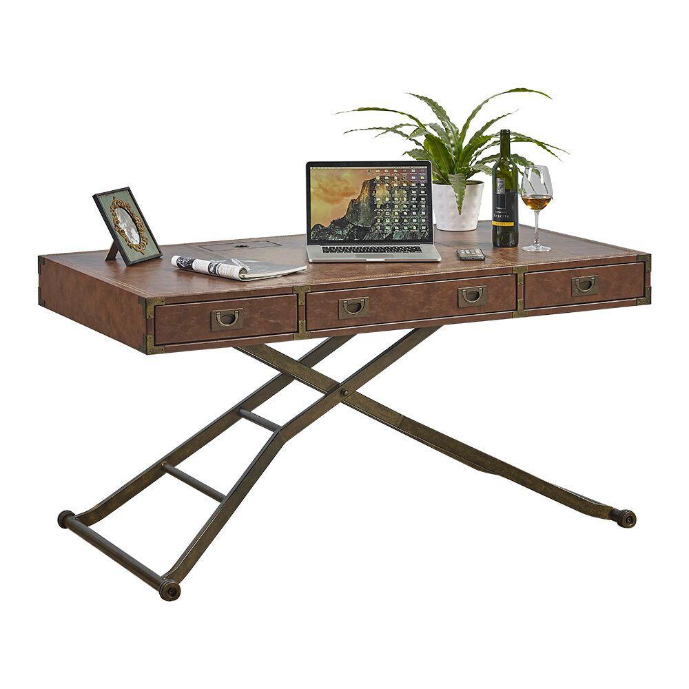 Turnkey Sit Stand Desk Chestnut Brown