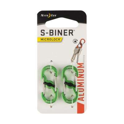 S-Biner Aluminum MicroLock in Lime (2-Pack)