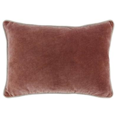 Heirloom Velvet 14 in. x 20 in. Rectangle Solid Stonewash Auburn Decorative Pillow