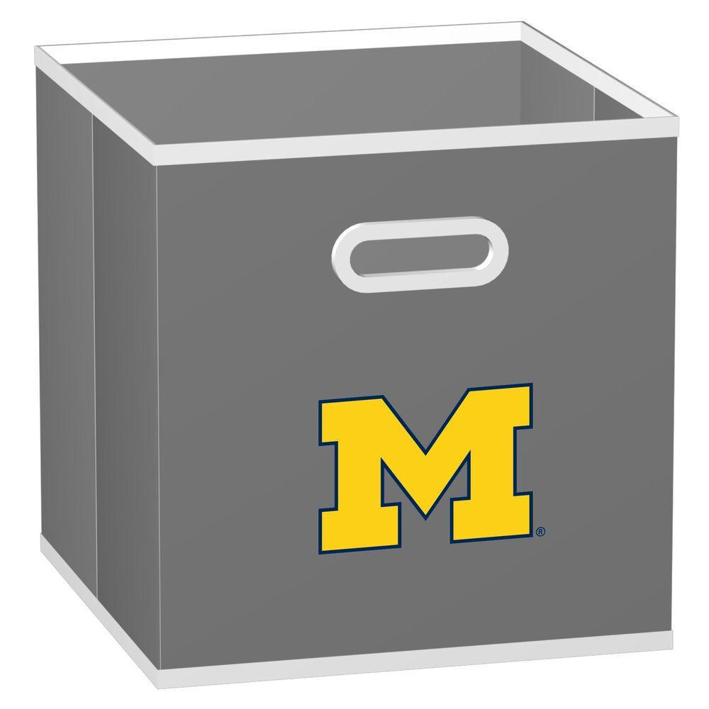MyOwnersBox College STOREITS University of Michigan 10-1/2 in. x 10-1/2 in. x 11 in. Grey Fabric Storage Drawer