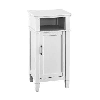 Ashburn 17 in. W x 35 in. H x 15 in. D Bathroom Linen Storage Floor Cabinet in White