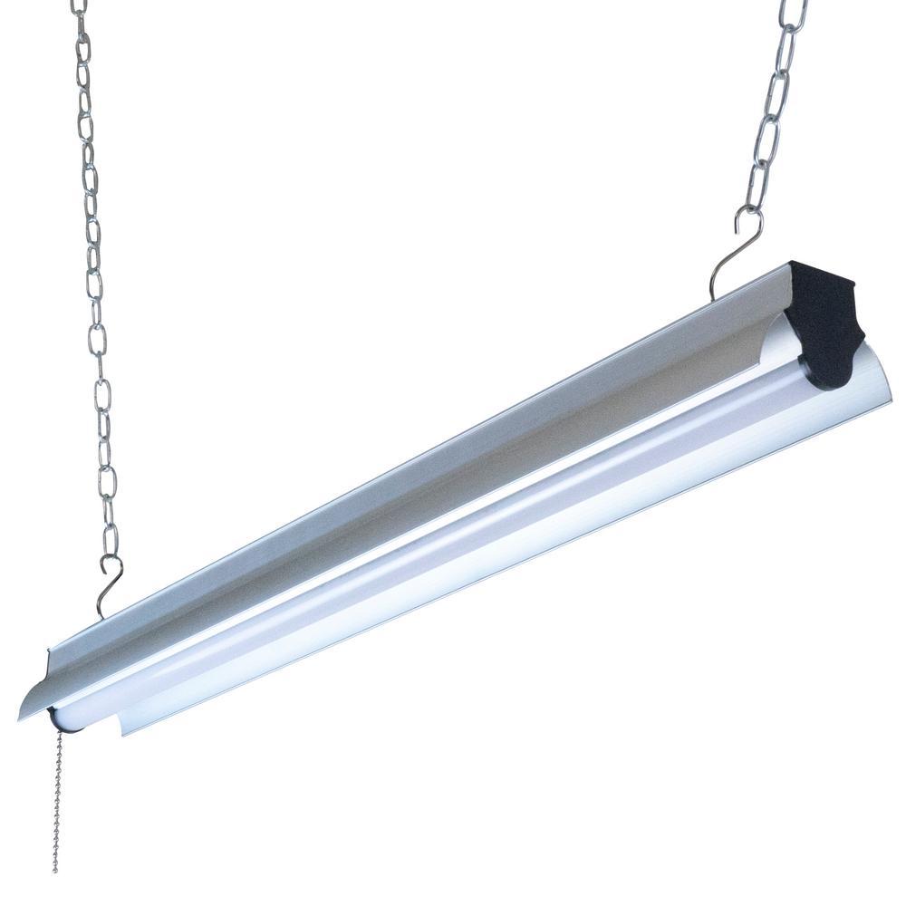 2 ft. 175-Watt Equivalent Integrated LED Silver Shop Light
