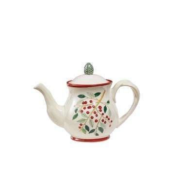 Simply Holly Teapot