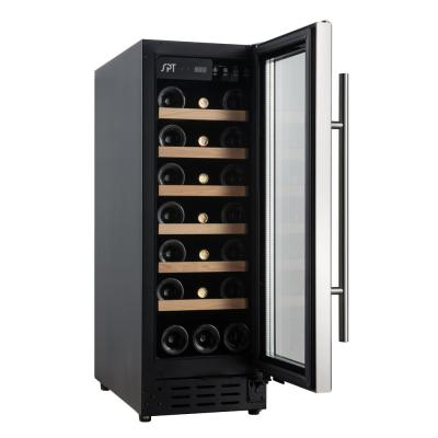 21-Bottle Under-Counter Freestanding Wine Cooler with Wooden Shelves (Commercial Grade)