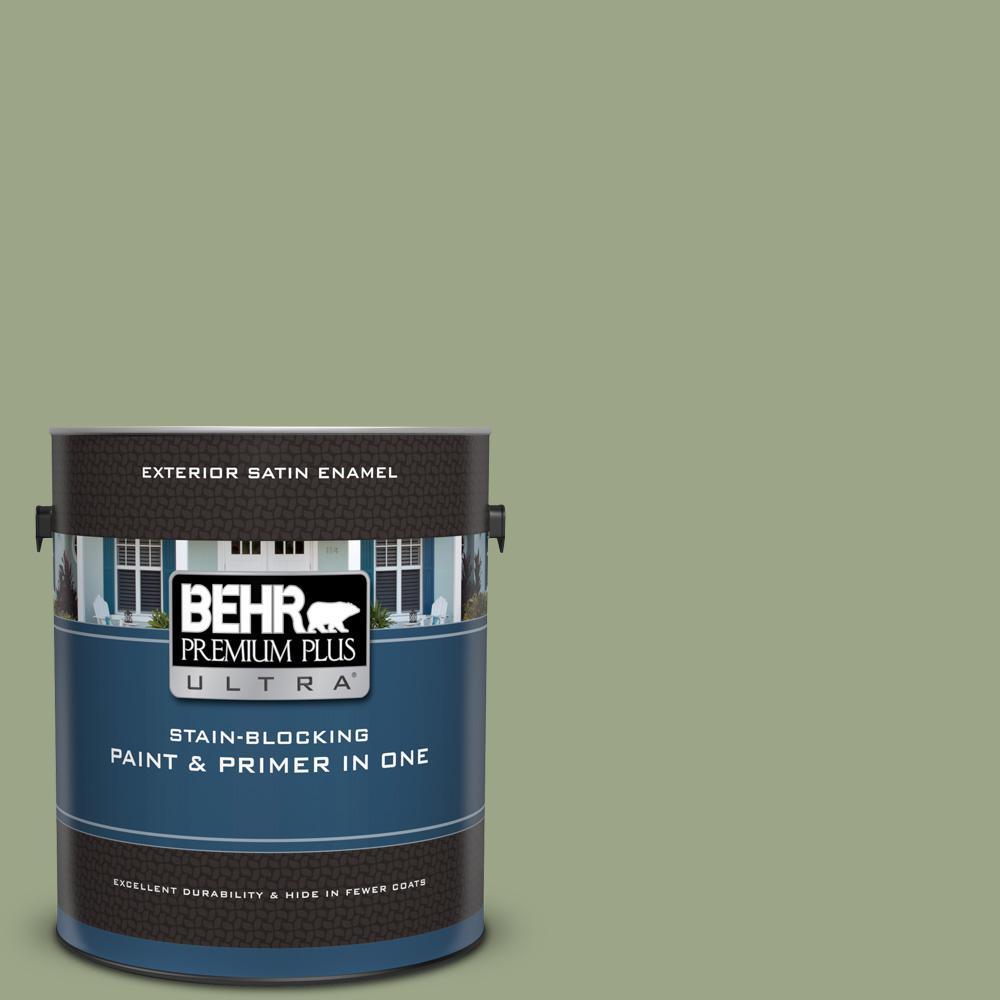 Behr Premium Plus Ultra 1 Gal Ppu11 07 Clary Sage Satin
