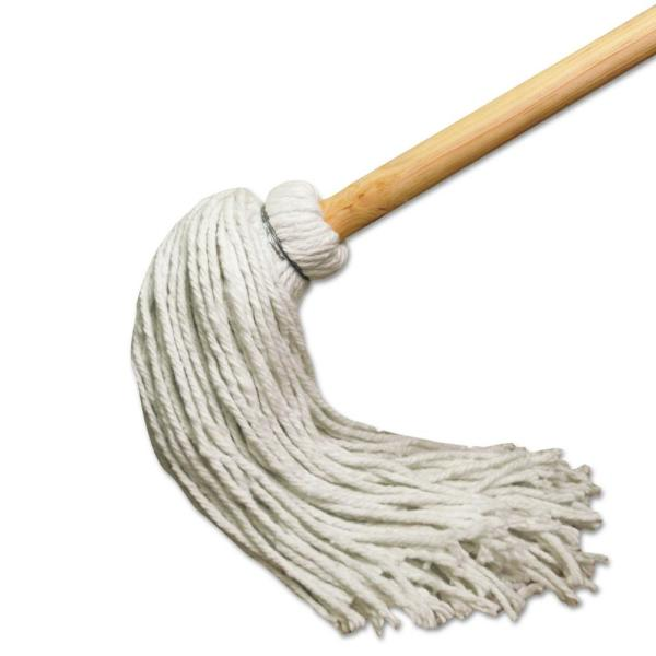51 in. Wooden Handle 12 oz. Rayon Fiber Head with Commercial Deck String Mop (6-Pack)
