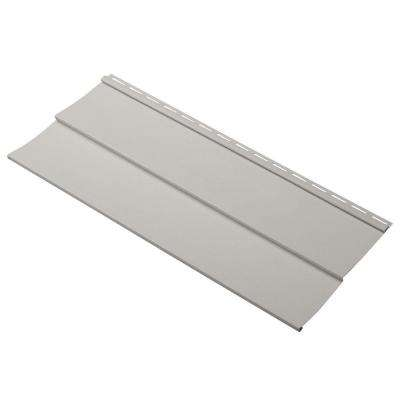 Progressions Double 5 in. x 24 in. Vinyl Siding Sample in Pewter