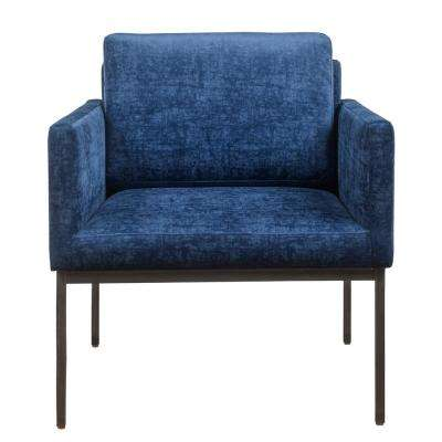 Canton Navy Velvet Chair