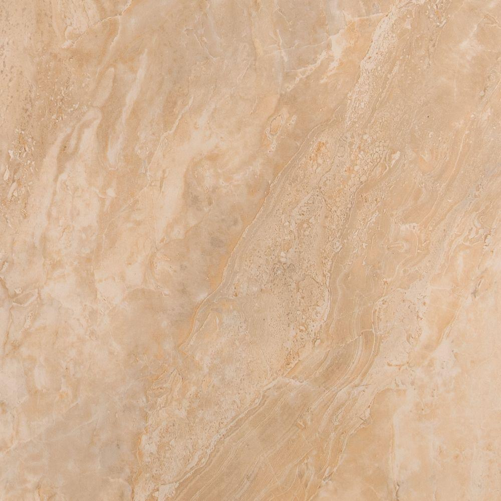 MSI Onyx Sand 12 in. x 12 in. Glazed Porcelain Floor and Wall Tile ...