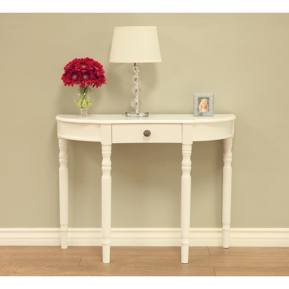 Homecraft Furniture White Storage Console Table WH14-B - The