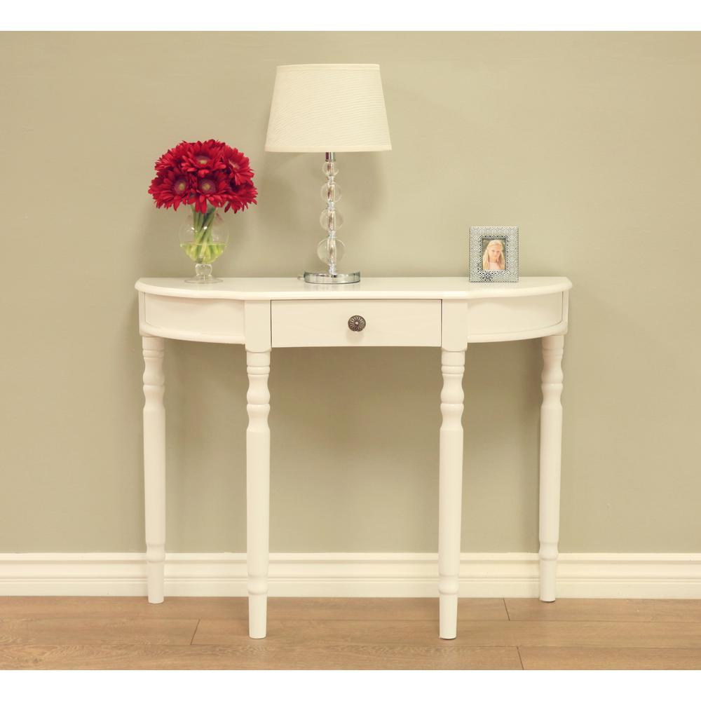 Homecraft Furniture White Storage Console Table RVWH14B