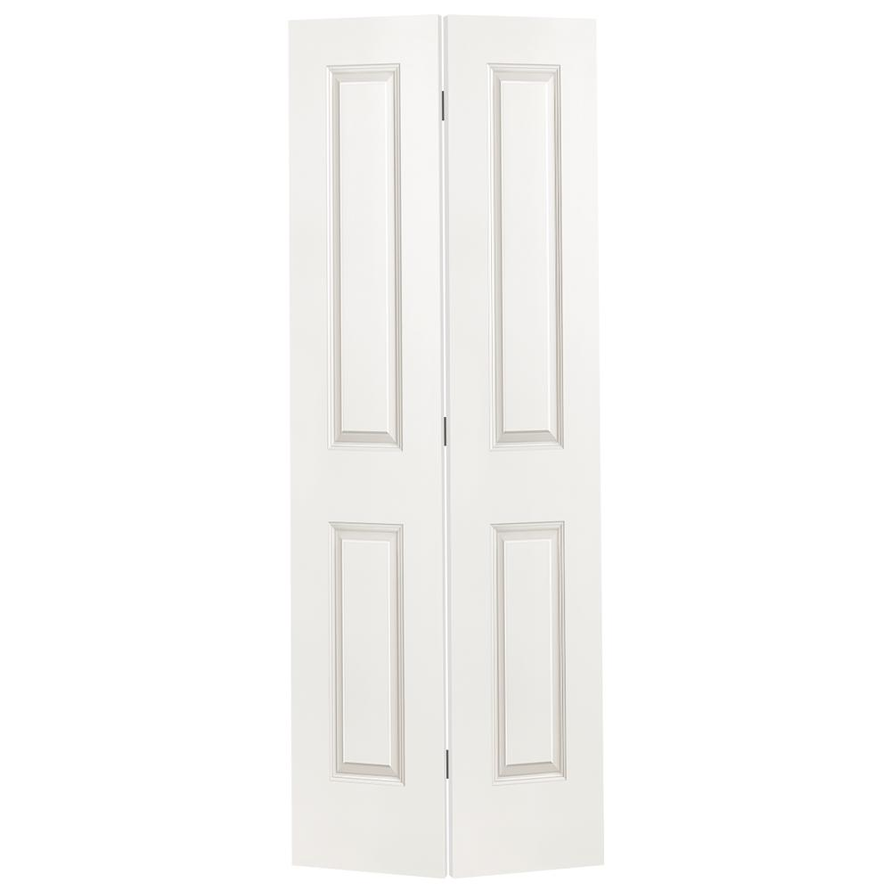24 in. x 80 in. 2-Panel Square Top Primed White Hollow-Core